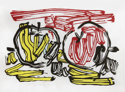 Roy Lichtenstein, 'Red Apple and Yellow Apple from Seven Apple Woodcuts Series (C. 197)', 1983