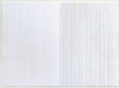 Hartmut Böhm, 'Gegenüberstellung, vertikale Linien, eng, Faber Castell H und HB (ID 51-03)', 2003