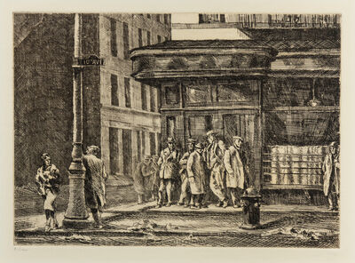 Reginald Marsh, 'Tenth Ave. at 27th St', 1931