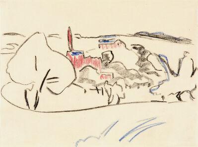 Ernst Ludwig Kirchner, 'Landschaft bei Moritzburg', ca. 1909