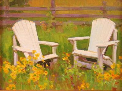 Ken DeWaard, 'Two White Chairs', 2015