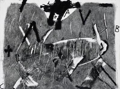 Antoni Tàpies, 'Lletres i gris', 1976