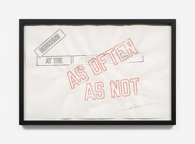 Lawrence Weiner, 'BEGINNING AT THE END OF (AS OFTEN AS NOT)', 2017