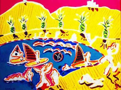 Wayne Ensrud, 'La Plage (Beach) at Collioure, France', 1989
