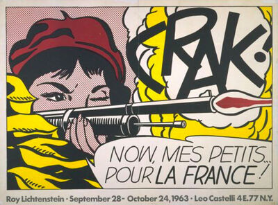 Roy Lichtenstein, 'Crak! Now, Mes Petits... Pour la France!', 1964