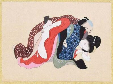 Unknown, ' Japanese Erotic Gouache', Late 19th Century