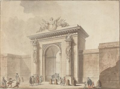 Studio of Claude Nicolas Ledoux, 'Portal of the Hôtel d'Uzès, rue Montmartre, Paris', 1768 or 1784