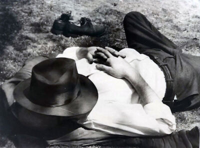 Vivian Maier, 'Man with Hat Sleeping'