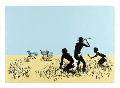Banksy, 'Trolleys (Color- Signed)', 2007
