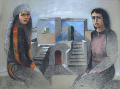 Sliman Mansour, 'Frozen Memories', 2014