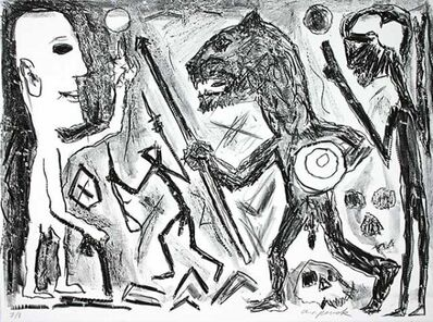 A.R. Penck, 'Homer u. Aristoteles, 1 Blatt', Unknown