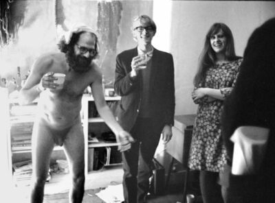 John 'Hoppy' Hopkins, ''Miles and Sue look on!' Allen Ginsberg's 39th Birthday Party, London', 1965