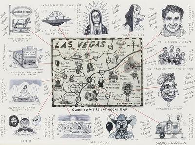 Jeffrey Vallance, 'Guide to Weird Las Vegas Map', 1998