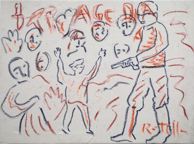 Mimmo Rotella, 'TRAGEDIA', ca. 1990
