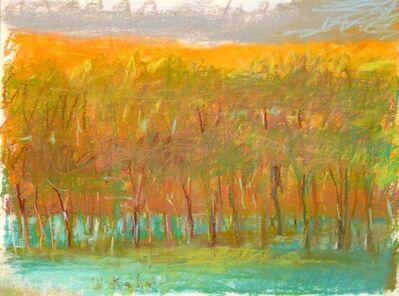 Wolf Kahn, 'Evening Tree Row', 1993