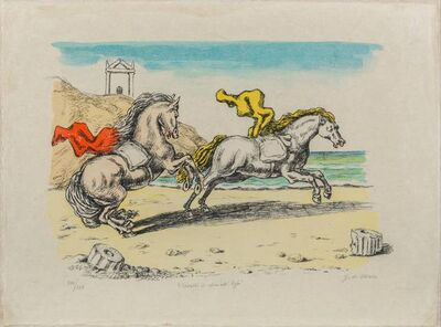 Giorgio de Chirico, 'Cavalli in riva all'Egeo', 1970