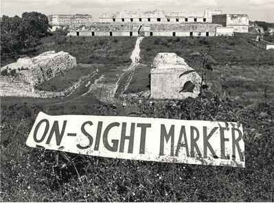 Carlos Ginzburg, 'Off-sight Marker - On-sight Marker', 1980