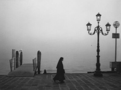Pentti Sammallahti, 'Untitled, (Nun Walking along River Bank)', 2000