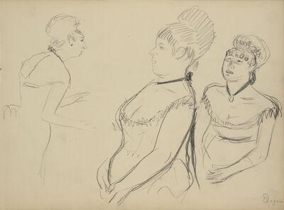 Edgar Degas, 'Three Sketches', 1877