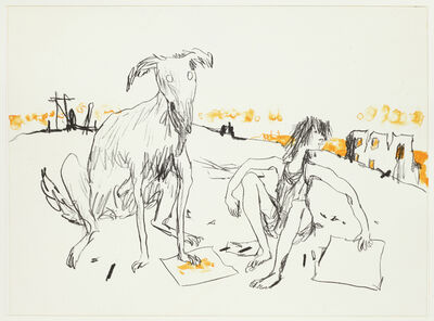 Quentin Blake, 'Girls and Dogs I', 2012