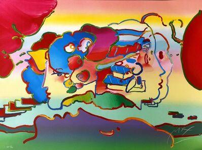 Peter Max, 'THREE FACES', 1991