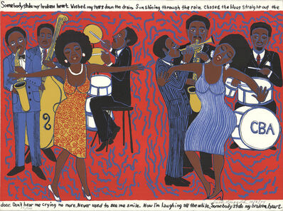 Faith Ringgold, 'Somebody Stole My Broken Heart', 2004