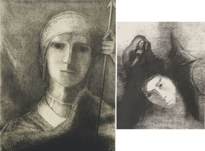 Odilon Redon, 'Two works of art: Parsifal; Untitled from La Tentation de Saint Antoine'