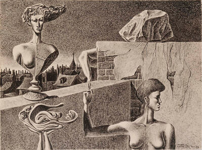 Federico Castellon, 'The Perilous Buoyancy of an Altitude', 1936