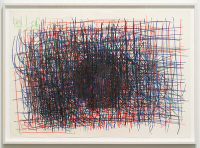 Dan Miller, 'Untitled (Black circle over red and blue)', 2012