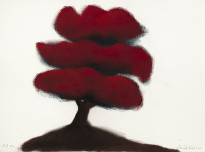 David Nash, 'Red Tree (#7)', 2018