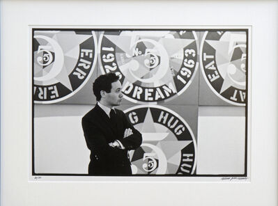 William John Kennedy, 'Robert Indiana with The Demuth American Dream #5', 1964