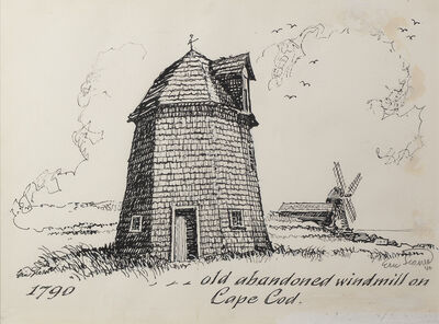 Eric Sloane, 'Old Abandoned Windmill on Cape Cod', Date Unknown