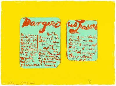 Rene Ricard, 'Dangerous Liaisons ', 1990