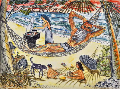 Red Grooms, 'At the Beach II', 1992