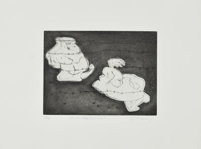 Maria Lassnig, 'Hinter Stacheldraht', 1987