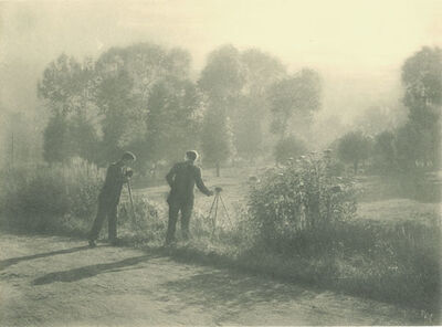Léonard Misonne, 'Photographer's Sons with Cameras', 1928/1928
