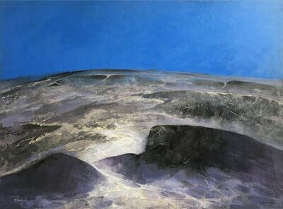 Byron Galvez, 'Paisaje Lunar', 1973