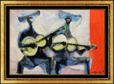 Romeo Tabuena, 'Romeo Tabuena Original Painting Oil On Board Signed Music Portrait Framed Art', 1962