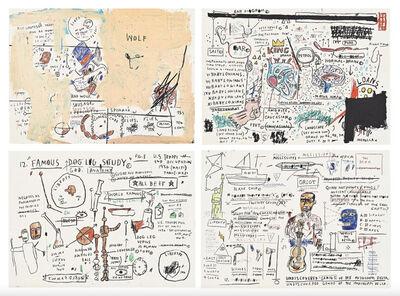 Jean-Michel Basquiat, 'Wolf Sausage, King Brand, Dog Leg Study, Undiscovered Genius', 1982-83/2019