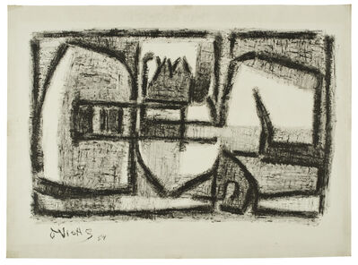 Oswaldo Vigas, 'Objeto negro I', 1954