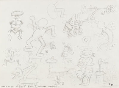Keith Haring, 'Untitled (Study for Dusseldorf Sculptures)', 1987