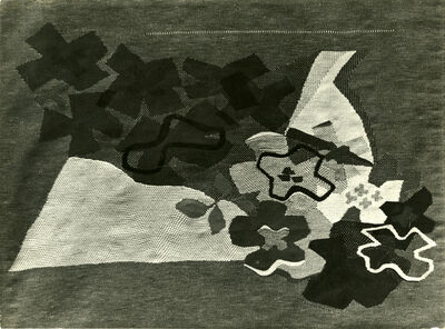 Josef Sudek, 'Arrangement of designs on fabric and behind', 1920s-1930s