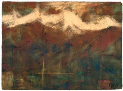 Christian Rohlfs, 'Abend im Gebirge', 1927