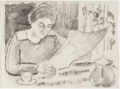 August Macke, 'Morgenfrühstück (Morning breakfast)', 1911