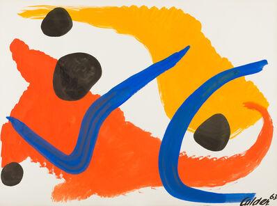 Alexander Calder, 'Blue Hooks', 1963