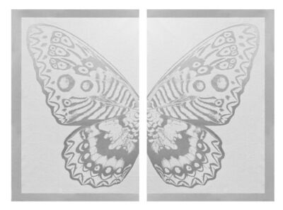Rubem Robierb, 'Hybrid Silver Butterfly on White ', 2016