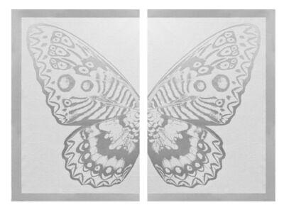 Rubem Robierb, 'Hybrid Silver Butterfly on White ', 2016