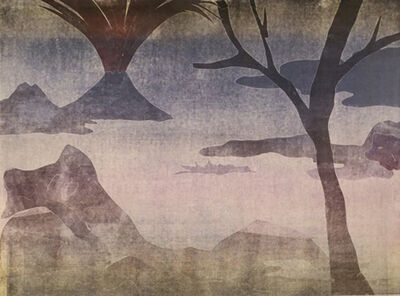 Leiko Ikemura, 'Paisajes con el monte Fuji 14', 2015
