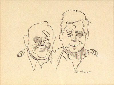 David Levine, 'Khrushchev and Kennedy', 1963