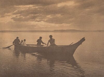 Edward Sheriff Curtis, 'Homeward', 1898-printed later